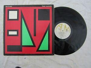 SPLIT-ENZ-LP-TRUE-COLOURS-a-amp-m-64822-Etched-disc-33rpm-rock