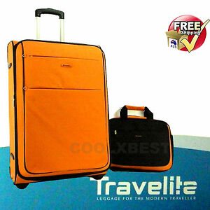 TRAVELITE-72cm-TROLLEY-SUITCASE-CABIN-TOTE-BAG-HOLIDAY-TRAVEL-GERMAN-DESIGN