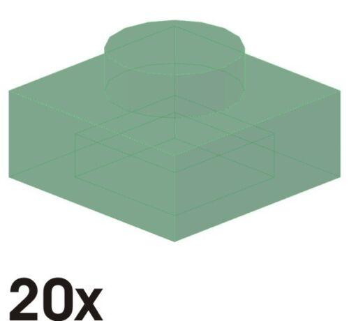 300 Nouvelles Plaques 1x1 en vert-transparent 20 St 3024