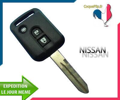 Coque pour clé télécommande 2 boutons Nissan K12 Note Qashqai Navara