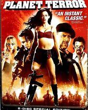 PLANET TERROR  ~ DVD 2-Disc Set, Extended Directors Cut ZOMBIE WAR GORE GUNS OMG