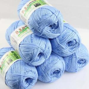 Sale-Lot-6-Balls-x50g-Soft-Bamboo-Cotton-Baby-Wrap-Hand-Knitting-Crochet-Yarn-10