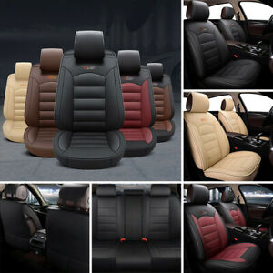 US-5-Seat-Car-SUV-Seat-Covers-Cushion-Front-Rear-Full-Set-PU-Leather-Universal