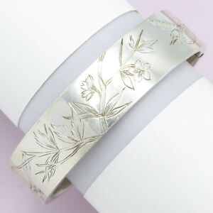 Antique-Victorian-Aesthetic-Period-Dragonfly-Bird-Sterling-Silver-Bracelet