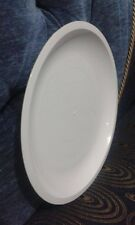 """50 units White 9"""" Plastic Party Plates Reusable Dinner Wedding Plastic Dishes"""