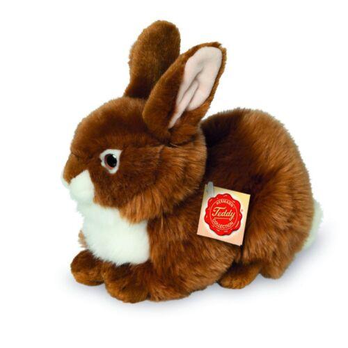 Teddy Hermann lapin assis marron 25 cm 93783 doudou peluche animal en peluche