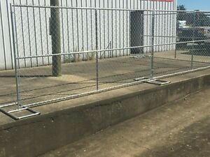 12 X 6 Chain Link Temp Construction Fence Panels Rent A