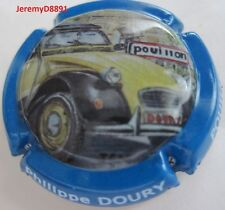 Capsule de champagne Doury Philippe 2 CV N°100 Ctr Bleu