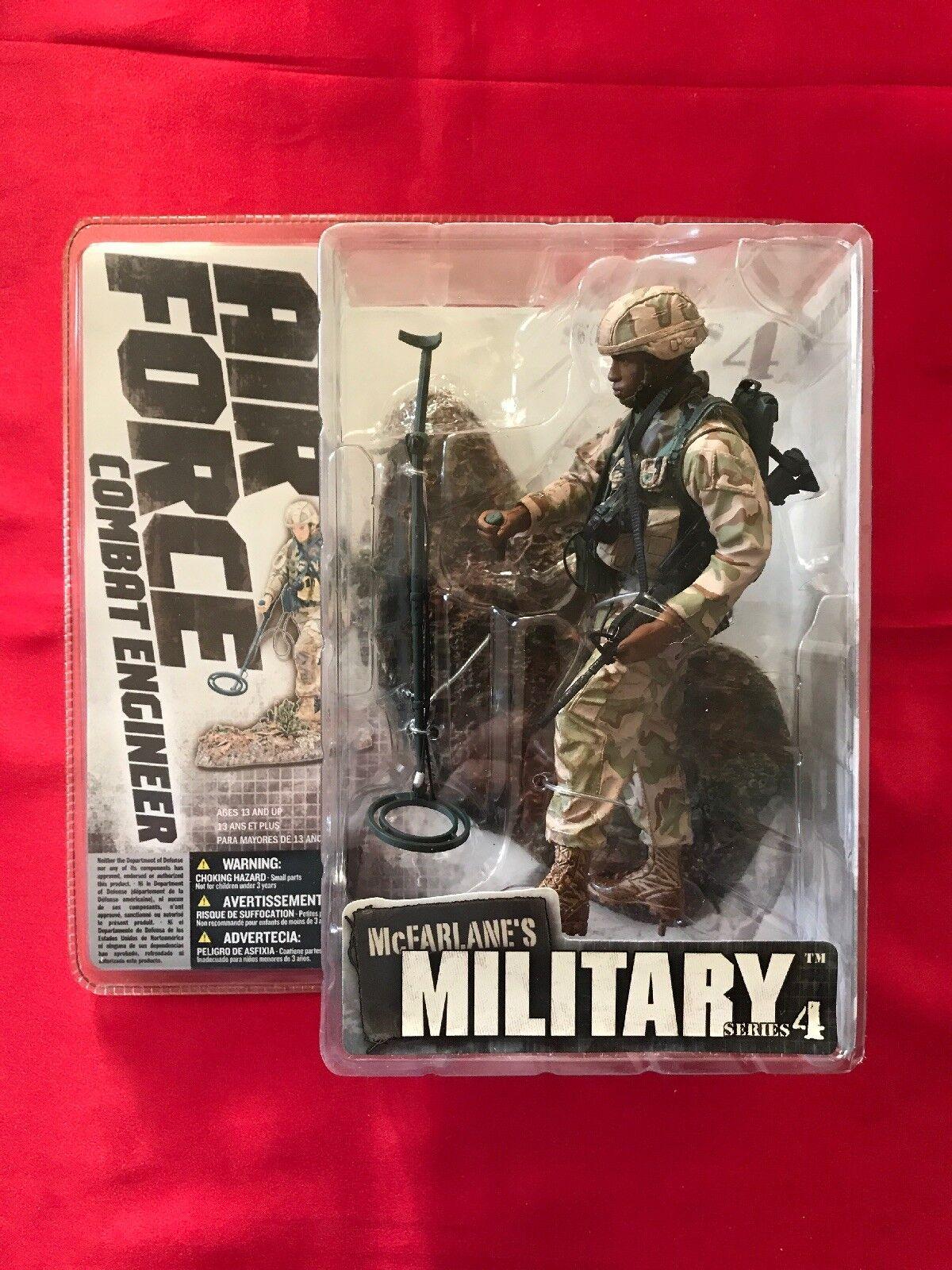 MCFARLANE MILITARY MILITARY MILITARY Series 4 AIR FORCE COMBAT ENGINEER VARIANT AFRICAN AMERICAN 32e225