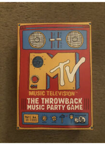 MTV The Throwback Music Party Game by Big Potato Games New Sealed