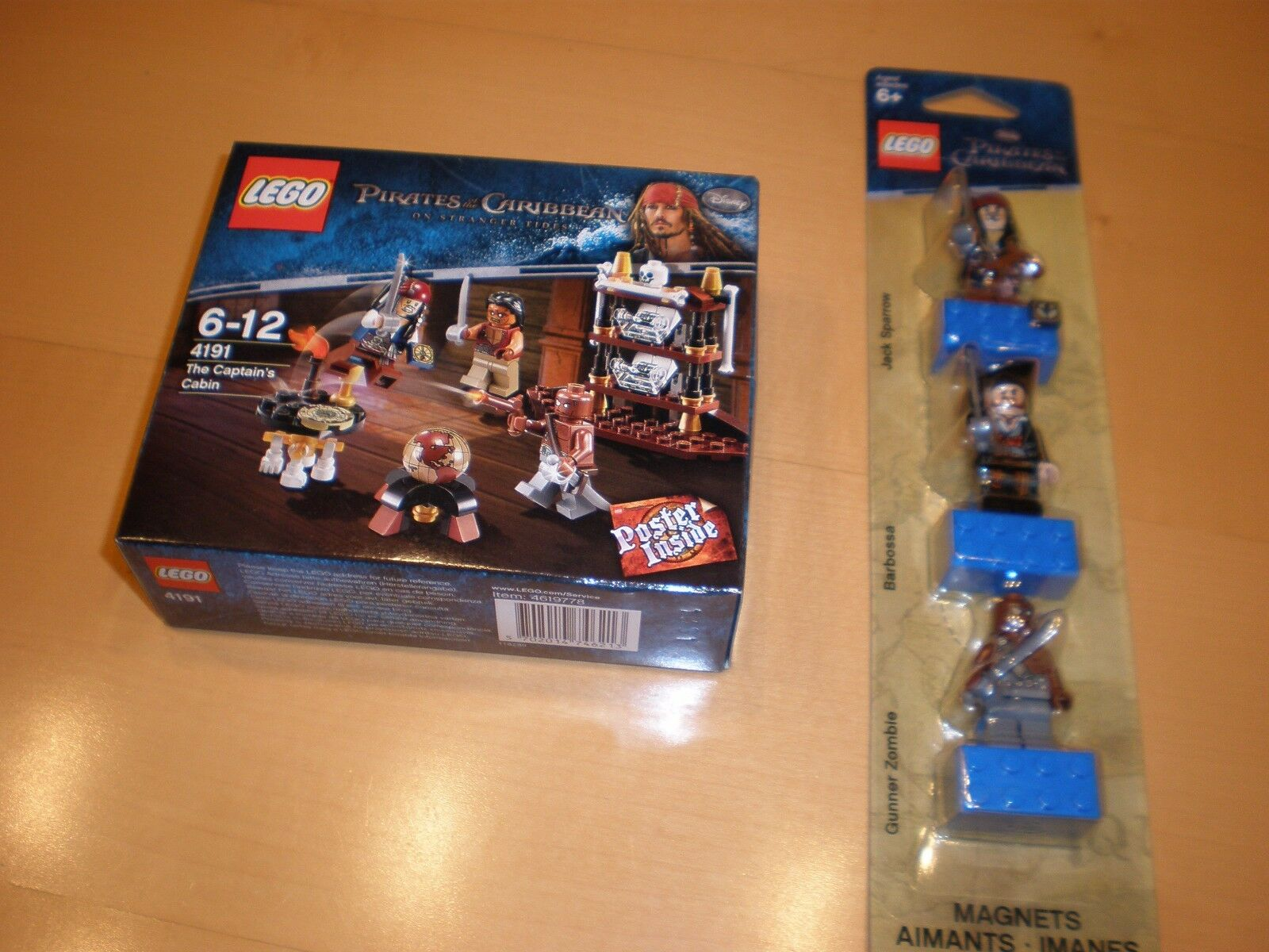 Lego 4191 Pirates of the Caribbean - The Captain's Cabin + 853191  OVP, MISB