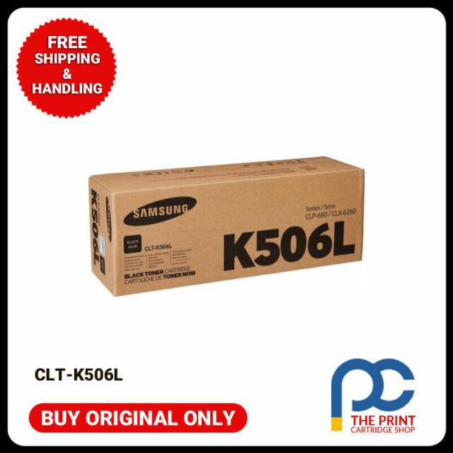 New & Original Samsung CLT-K506L BLACK Toner (SU173A) For CLP680 CLX6260