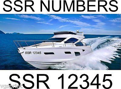 Boat Name 290x60mm  Custom Waterproof Boat//Water  Vinyl Decal Sticker 2x SSR