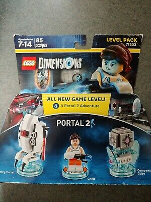 LEGO DIMENSIONS Portal 2 Chell Minifigure 3 in 1 Level Pack Set  #71203 NIB