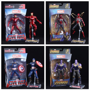 Avengers-4-Infinity-War-Marvel-Legends-Thanos-Iron-Man-PVC-Action-Figure-Endgame