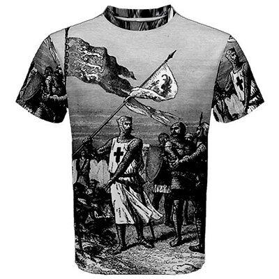Knights Templar Flags Freemason Sublimated Sublimation T-Shirt S,M,L,XL,2XL,3XL