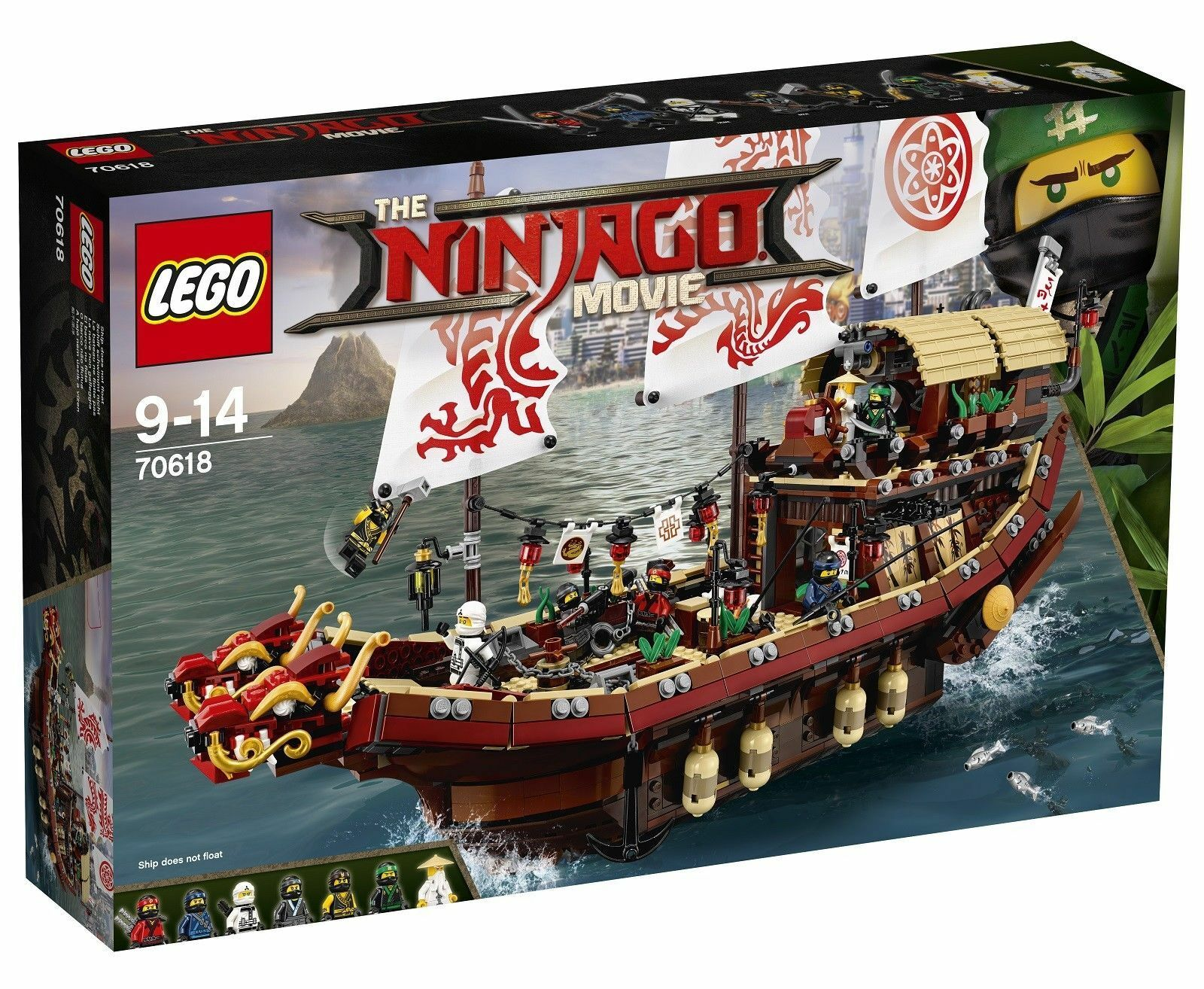 Nuovo Sealed LEGO NINJAGO MOVIE 70618 Destiny's Bounty Boat Set 2295Pcs Ship Fast