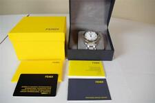 $995 Fendi Mens Watch Swiss Made Stainless Steel Water Resistant Sapphire