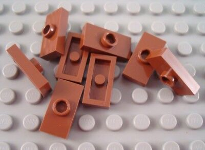 LEGO Lot of 12 Reddish Brown 1x2 1 Stud Plate Pieces