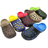 EVA Fashion Summer Men Garden Hole Patchwork Beach Sandals Slippers Slip