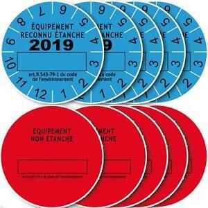 10 Etiquettes De Marque De Contrôle D'etanchéité Année 2019,conforme Adc Large SéLection;