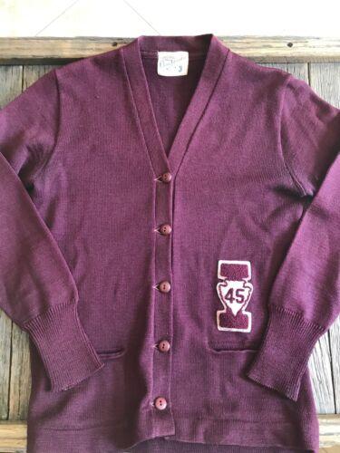 Antique Letterman Sweater - 1945 College Sweater -