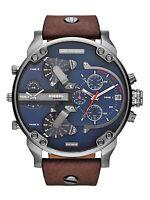 Orologio da uomo Diesel Mr Daddy 2.0 DZ7314 Cronografo Cinturino pelle marrone