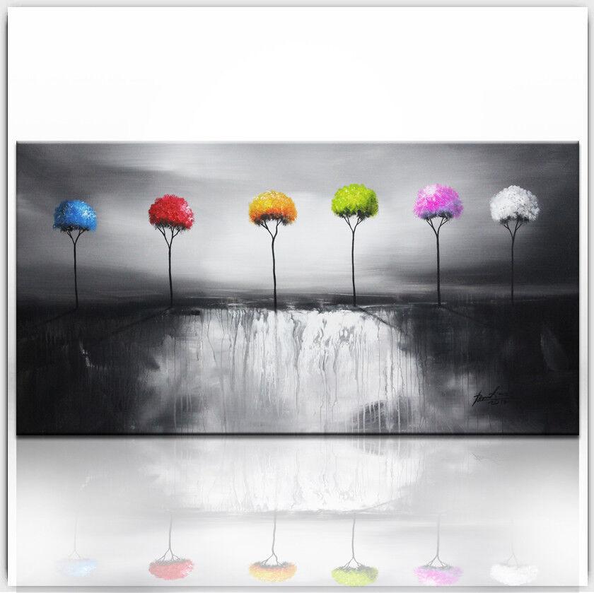 Paysage Arbres Bund Abstrait Images toile la fresque art pression xl731a