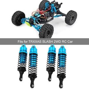 2PCS RC1:10 Rear 110mm Shock Absorber Replacement for TRXXAS SLASH Red