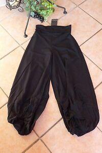 Lagenlook raffinierte Ballonhose 4x Knotenraffzüge am Bein cappucino XL,XXL,XXXL
