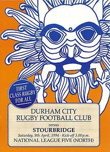 DURHAM-CITY-RUGBY-UNION-v-GATESHEAD-FELL-PROGRAMME-20-APRIL-1994