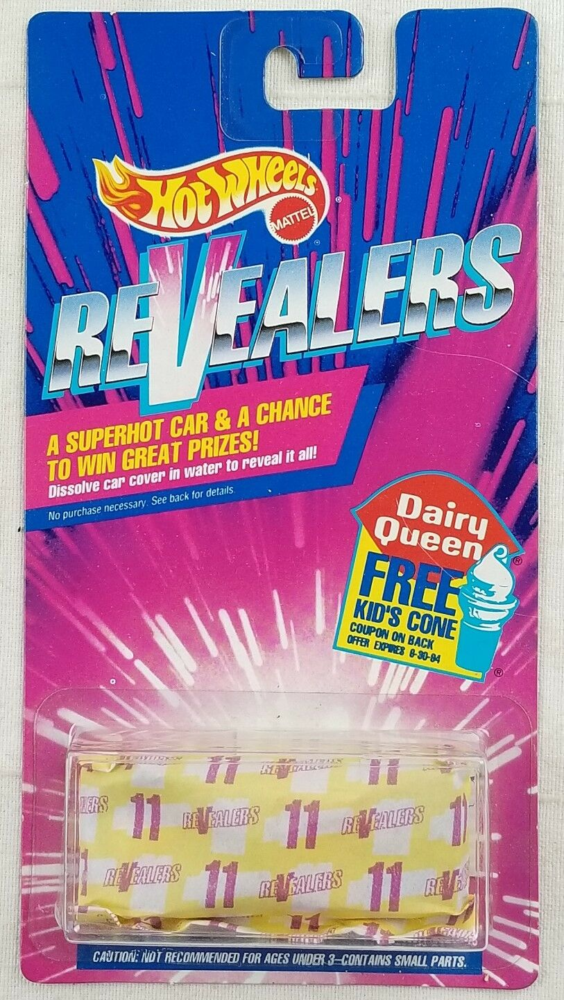 #1 Revealers 1992 Hot Wheels Dairy Queen Dissolve in Water to get Car