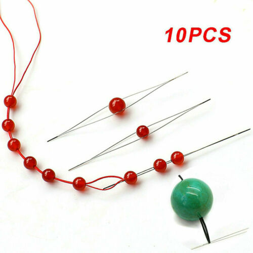 Beads Needles Tool Kits Big Eye Beading Needle 11pcs Open for Jewelry Making