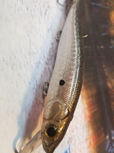 CUSTOM PAINTED MEGA  BIGBASSBAIT JERKBAIT FISHING LURE HOLOGRAPHIC SHAD SWIMBAIT