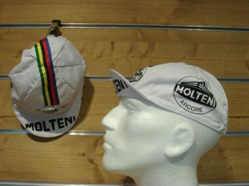 Vélo de course Cap MOLTENI vintage cycle Cap Retro fixiecap Molteni Arcore Blanc