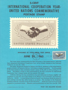1266-5c-United-Nations-Stamp-Poster-Unofficial-Souvenir-Page-Flat