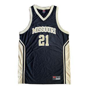 Nike Vintage Missouri Tigers Mizzou #21 NCAA Basketball Jersey Men's L Large