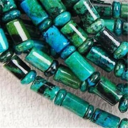 environ 38.10 cm 6x9mm Azurite Chrysocolle Gem colonne Loose Bead 15 in