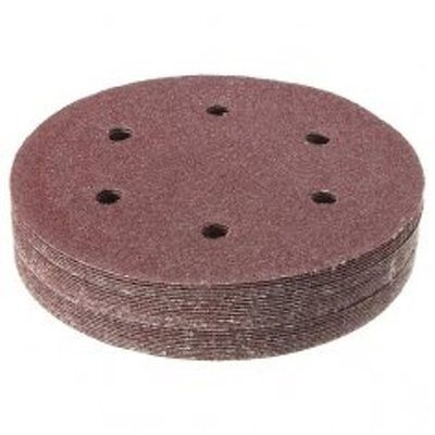 6 inch 6 Hole Hook /& Loop Sanding Discs 50//box 40-800 Grit