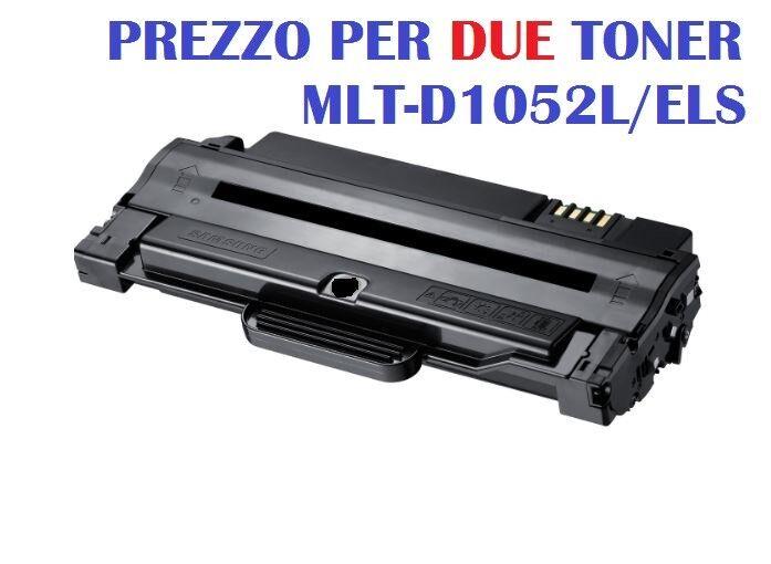 CARTUCCIA PER SAMSUNG FAX SF650 FAX SF650P SET 2 TONER MLT-D1052L NERO