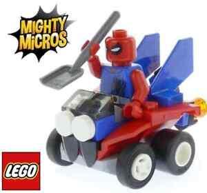 Lego Super Heroes Mighty Micros Mini Figure Spiderman Car Split