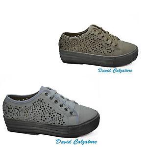 Scarpe da donna sportiva sneakers con zeppe comode beige bianche 36 37 38 39 40 Hq8qwU