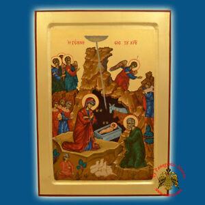 orthodox icon nativity christmas orthodoxe ikone. Black Bedroom Furniture Sets. Home Design Ideas