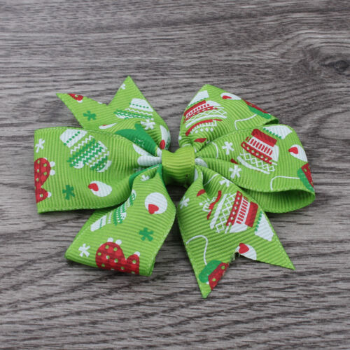 "30pcs//lot 3/"" Dovetail Grosgrain Floral Ribbon Hair Bows No clips"