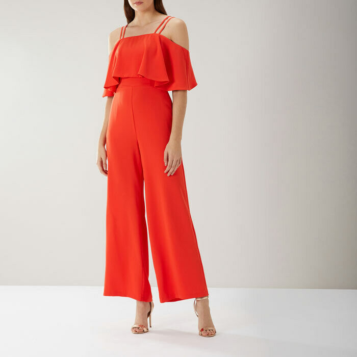New Coast Marissa orange Overlayer Jumpsuit Sz