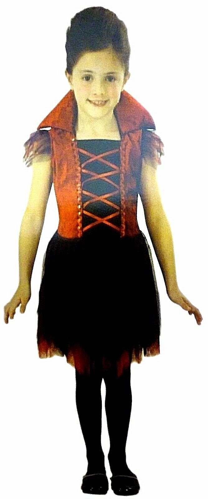Delightful Vampire Dracula Girl's Halloween Costume Dress Size Medium NEW Cute