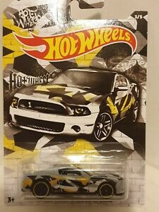 FORD-Shelby-gt500-Super-Snake-10-039-1-64-SCALA-pressofusione-modello-auto-giocattolo-Hot-Wheels