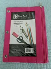 Studio C 3 Ring Binder Pocket Storage Pouch With Zippered Pocket975x775 New