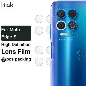 2pcs IMAK Clear Camera Lens Glass Screen Film For Motorola Edge S 6.7""