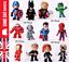 12PCS-Juguete-Marvel-DC-Vengadores-Figura-De-Accion-superheroe-Ironman-Hulk-Thor-Spiderman miniatura 1